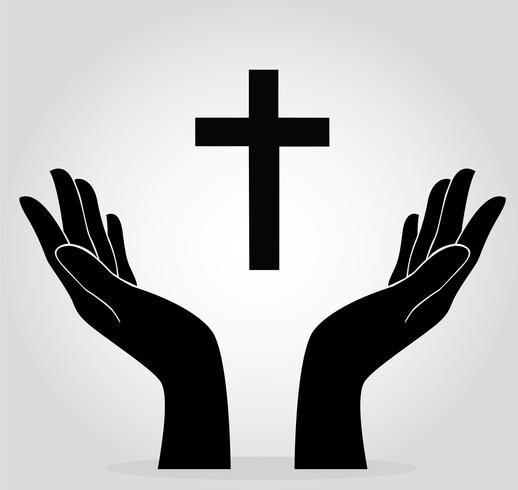mains tenant la croix - Telecharger Vectoriel Gratuit, Clipart ...