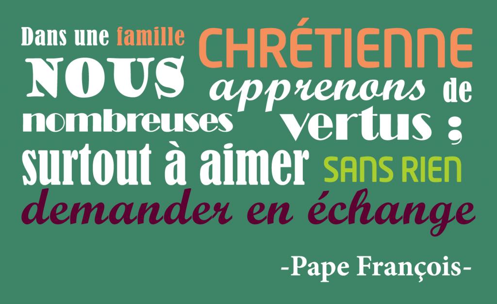Famille Pape Francois